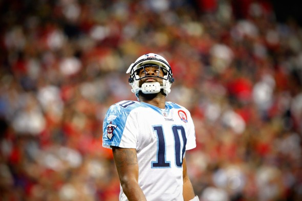 Vince Young during a Monday Night Football game against the Texans in 2009