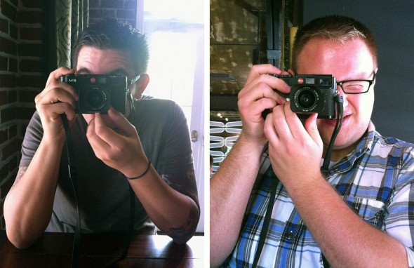 Testing out the Leica M9! Me on the left taken by Brad Moore and Brad Moore on the right taken by me!