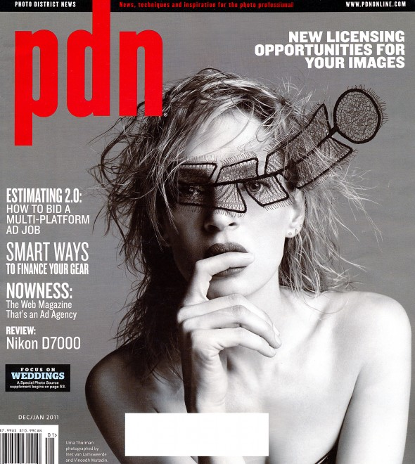 DECEMBER 2010 COVER OF PDN MAGAZINE