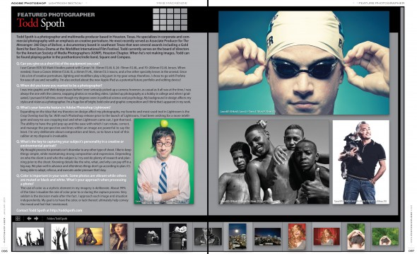 Todd Spoth Photoshop User Magazine feature spread