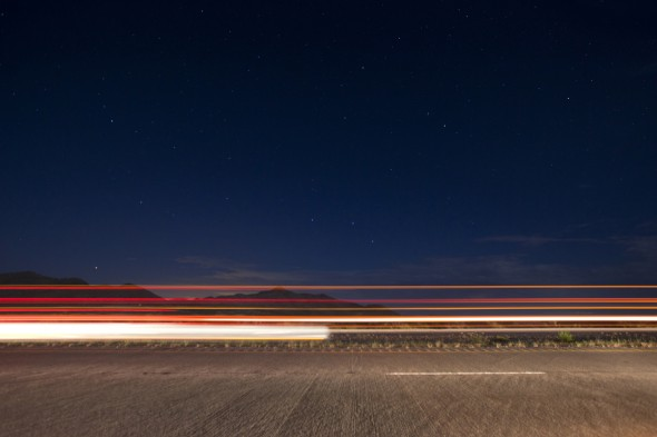 NIGHTTIME LONG EXPOSURE ALONG 1-10 BY TODD SPOTH