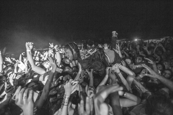 A$AP ROCKY CROWD SURFS AT FUNFUNFUNFEST 2012 BY TODD SPOTH