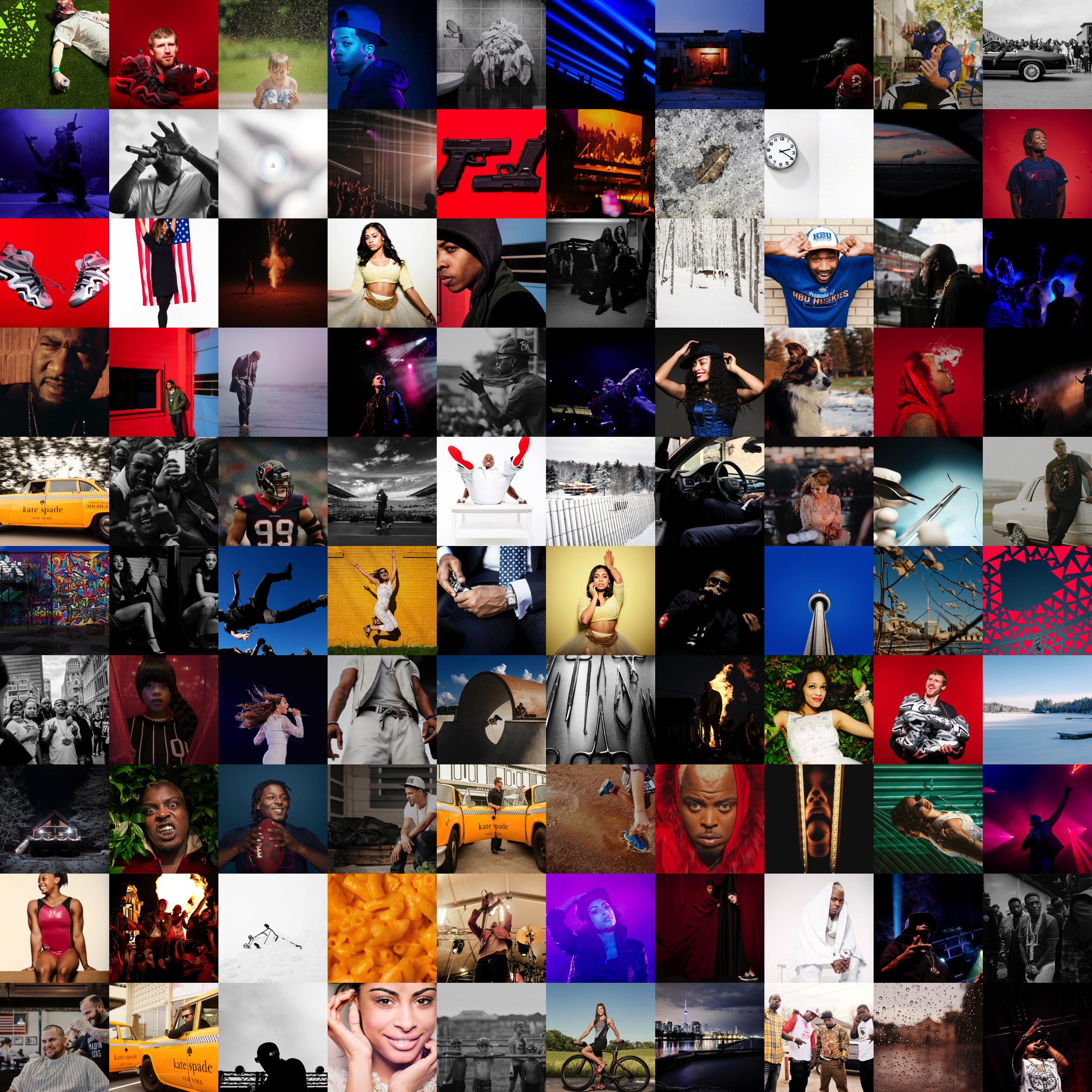All 100 favorites from 2014 together because I like grids of things.
