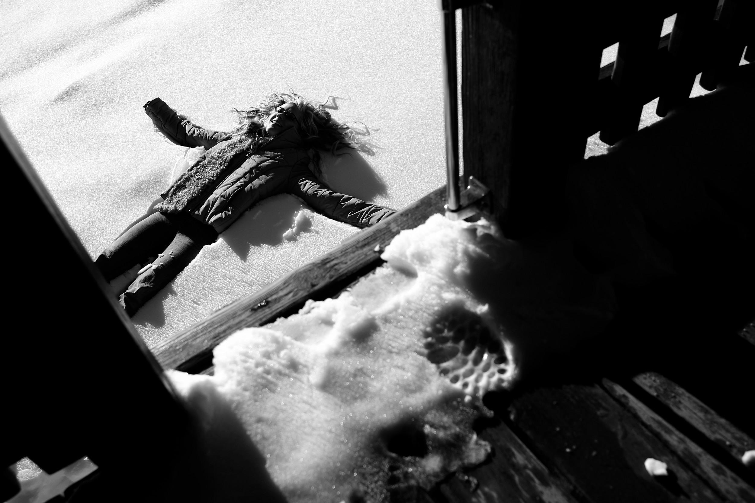 GIRL IN SNOW © TODD SPOTH