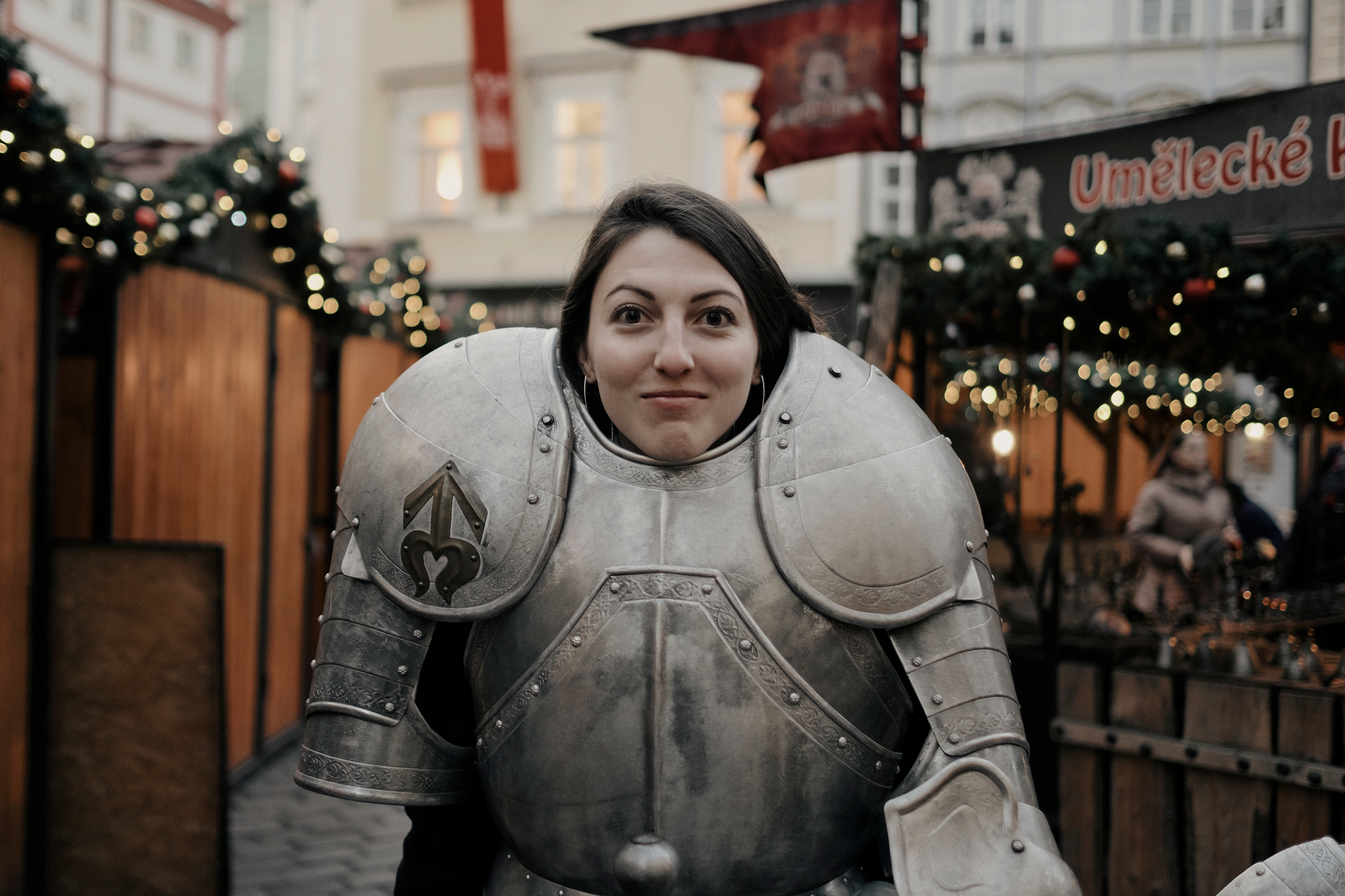 My lovely sister as a medieval knight.