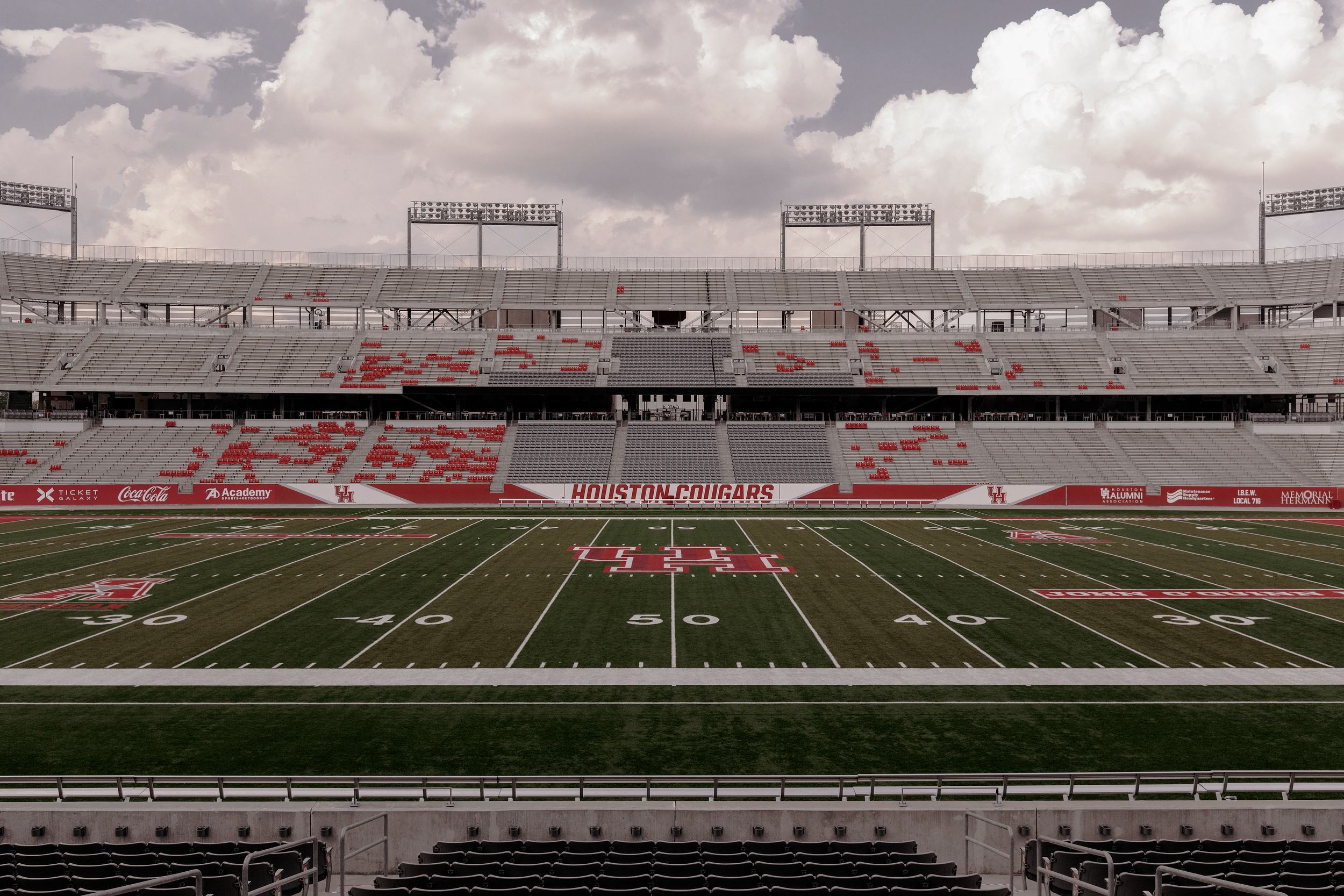 TDECU stadium on the campus of the University of Houston is seen. Todd Spoth for The New York Times.